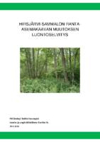 Selostus_Liite_4_Hirsjärvi-Sammalon ranta-asemakaavan muutoksen luontoselvitys