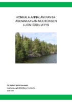 Selostus_Liite_4_Honkala-Annalan ranta-asemakaavan muutoksen luontoselvitys